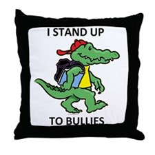 aligator STAND 3 Throw Pillow