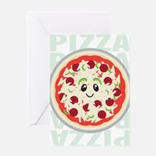happy pizza Greeting Card