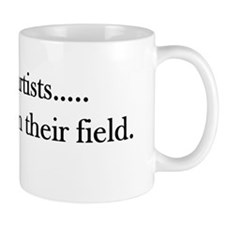 Outstanding in their field black Mug