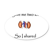 shared1 Oval Car Magnet