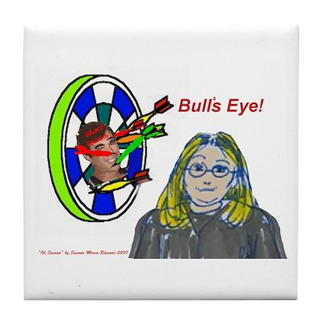 Bad Boss Bull's Eye Tile Coaster