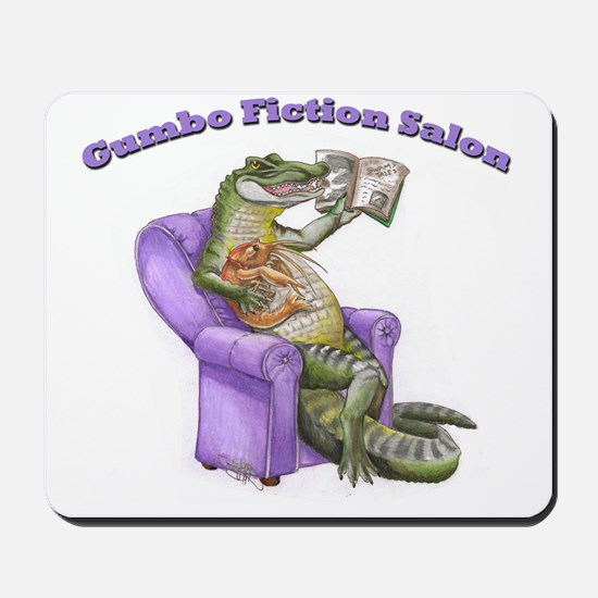 Gator Logo with Words (flipped) Mousepad