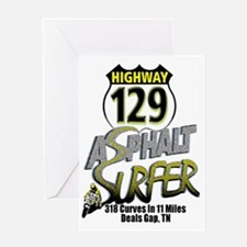 Asphalt Surfer Rt 129 Tail of the Dr Greeting Card