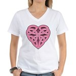 Bijii Heartknot Women's V-Neck T-Shirt