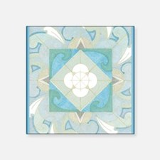 "YemanjaBorder5inch Square Sticker 3"" x 3"""