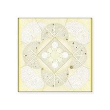 "OxumBorder5inch1 Square Sticker 3"" x 3"""
