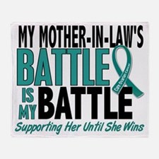 D My Battle Too Mother-In-Law Ovaria Throw Blanket