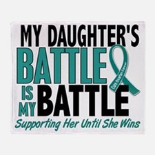 D My Battle Too Daughter Ovarian Can Throw Blanket