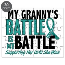 D My Battle Too Granny Ovarian Cancer Puzzle