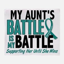 D My Battle Too Aunt Ovarian Cancer Throw Blanket