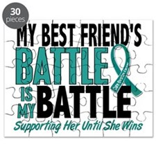 D My Battle Too Best Friend Ovarian Cancer Puzzle