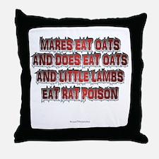 Mares Eat Oats dk Throw Pillow