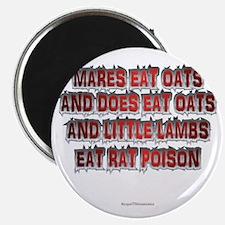 Mares Eat Oats dk Magnet