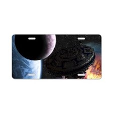 ss_laptop_skin Aluminum License Plate
