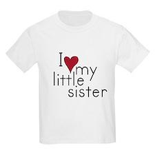 I love my little sister Kids T-Shirt