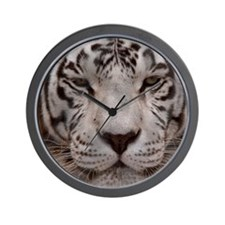 (14) White Tiger 4 Wall Clock