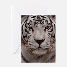 (9) White Tiger 4 Greeting Card