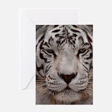 (14) White Tiger 4 Greeting Card