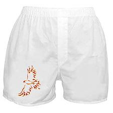Native flaming eagle tribal symbol Boxer Shorts