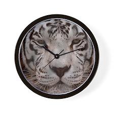 (12p) White Tiger 4 Wall Clock