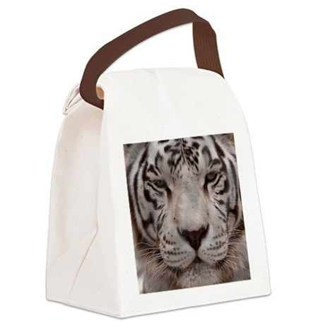 (15s) White Tiger 4 Canvas Lunch Bag