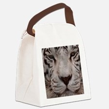 (12) White Tiger 4 Canvas Lunch Bag