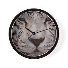 (12) White Tiger 4 Wall Clock