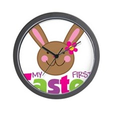 1stEasterBunnyGirl Wall Clock