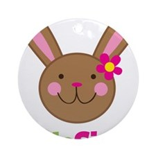 BunnyLittleSister Round Ornament