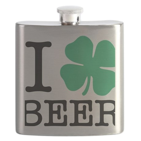 I Shamrock Beer Flask
