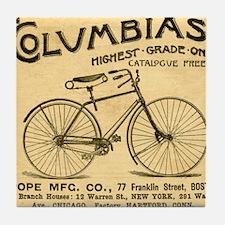 bike columbias  Tile Coaster