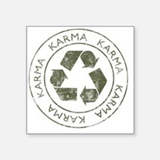 "Karma3 Square Sticker 3"" x 3"""