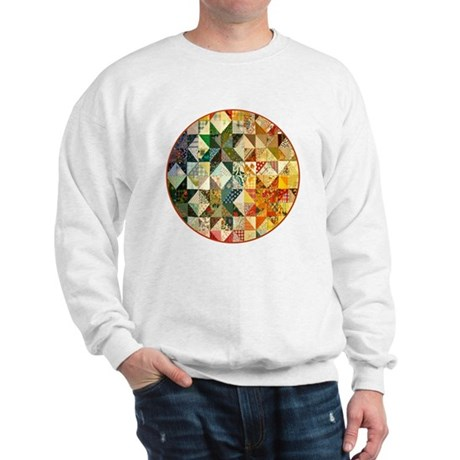 patchwk _Button2_Lg Sweatshirt
