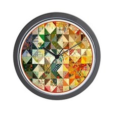 patchwk _Button2_Lg Wall Clock