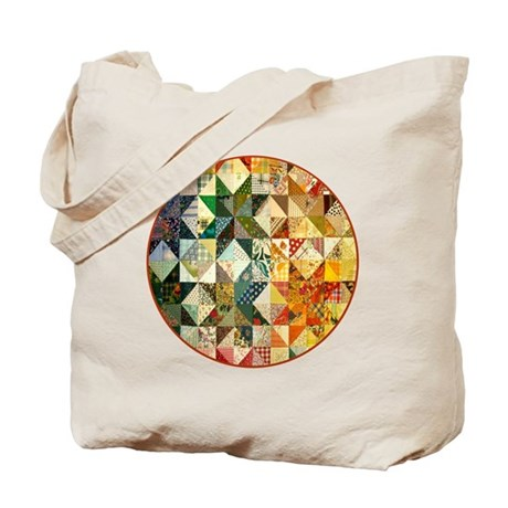 patchwk _Button2_Lg Tote Bag