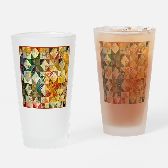 patchwk 11x11_pillow Drinking Glass
