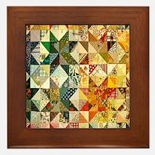 patchwk 11x11_pillow Framed Tile
