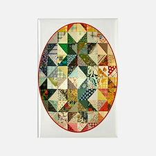 patchwk ornament_oval Rectangle Magnet