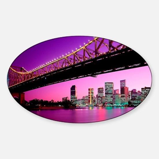 large print_0052_Australia1 (2) Sticker (Oval)