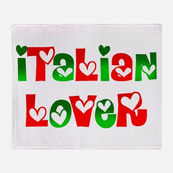 Italian Lover Throw Blanket