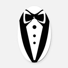 suit2 Oval Car Magnet