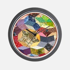 Quilt two _Button_Lg Wall Clock