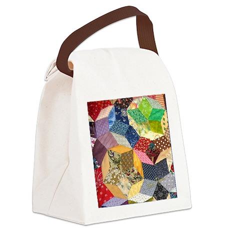 Quilt2 11x11_pillow Canvas Lunch Bag