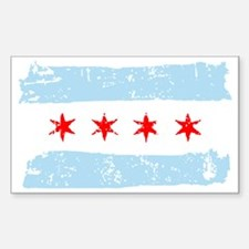 Flag of Chicago Sticker (Rectangle)