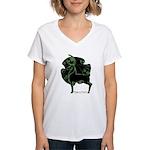 Herne #1 Women's White V-Neck T-Shirt
