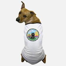 Wreath1-Black Shih Tzu Dog T-Shirt