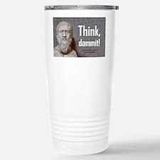 Think Dammit Stainless Steel Travel Mug