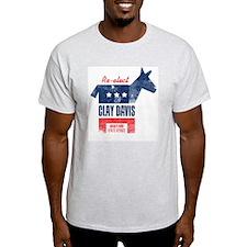 reelectClayDavis_print_23x35 T-Shirt