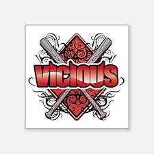 """Vicious Logo.htm Square Sticker 3"""" x 3"""""""