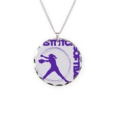 purple, Fastpitch trio Necklace Circle Charm